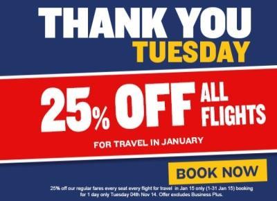 25% popusta na vse lete Ryanair