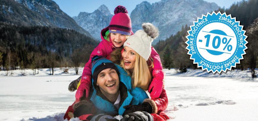 Zimske počitnice v Kranjski Gori! 3 x polpenzion + smučarske karte + … že za 230,4 eur na osebo