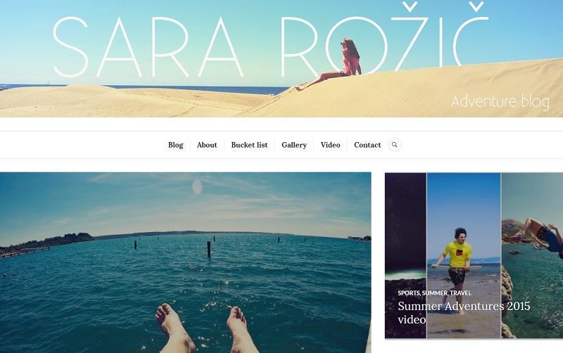 SLO BLOG: Sara Rožič Adventure blog