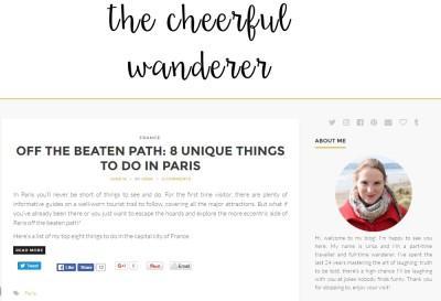 SLO/ANG blog The Cheerful Wanderer