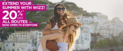 WIZZAIR PROMOCIJA! 20% popusta na vse lete v številne evropske destinacije!